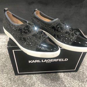 Women Karl Lagerfeld Arden Jeweled slip on sneaker